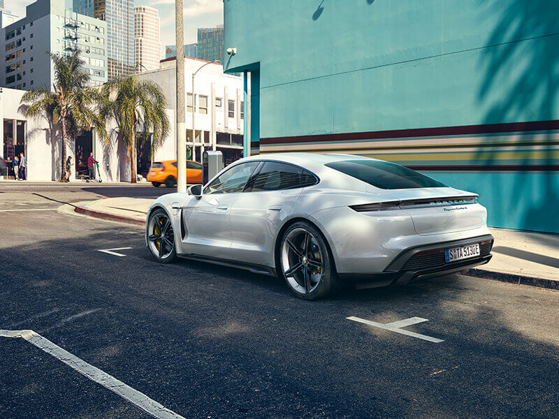 Porsche - Charging on the road.